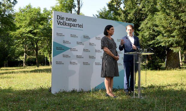 ÖVP-Chef Sebastian Kurz und Elisabeth Köstinger