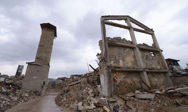 Beim Erdbeben in Amatrice kamen 299 Personen ums Leben / Bild: AFP (FILIPPO MONTEFORTE)