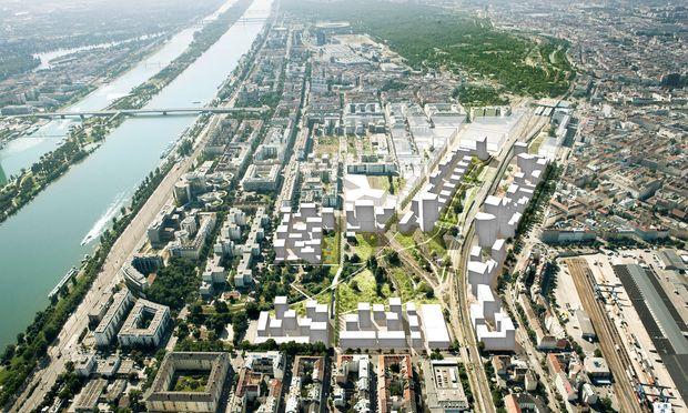 """Freiraum. Agence Ter sprechen über die """"Freie Mitte"""" am Wiener Nordbahnhofgelände."""