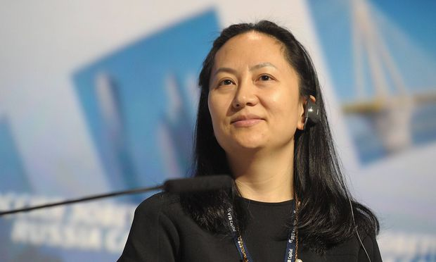 MOSCOW RUSSIA OCTOBER 2 2014 Huawei Technologies executive director Wanzhou Meng attends the 6t