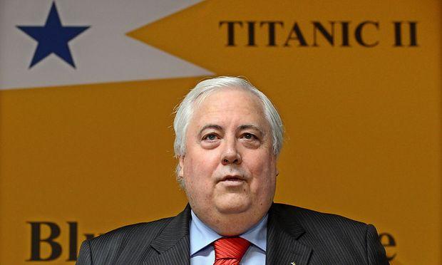 Milliardär Clive Palmer bei der Ankündigung seiner Pläne im April 2012 in Brisbane, Australien.