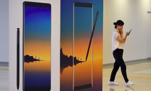 Galaxy Note 8 von Samsung ist heiß begehrt