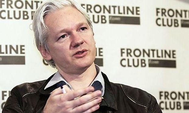 WikiLeaks founder Julian Assange speaks at a news conference in London
