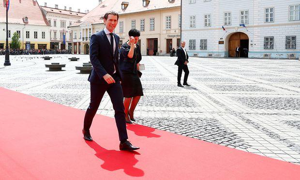 Bundeskanzler Sebastian Kurz beim informellen EU-Gipfel in Sibiu am 9. Mai.
