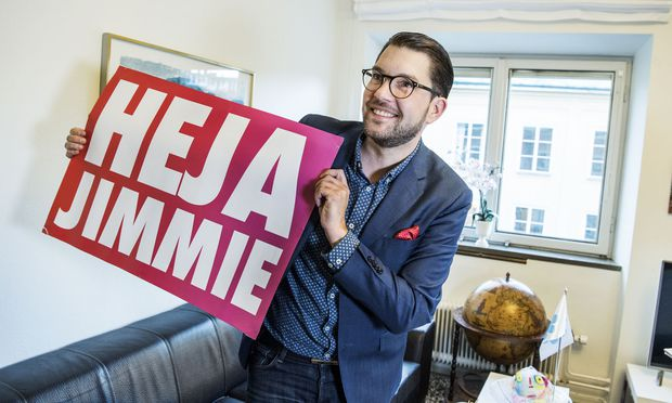 Jimmie Åkesson und seine rechtspopulistischen Schwedendemokraten wirbeln die Politik in Stockholm durcheinander.