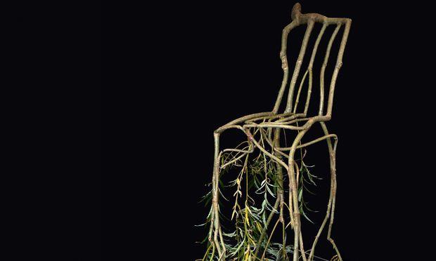 """Entwurzelt. Stuhl aus der """"Full Grown""""-Reihe von Gavin Munro."""