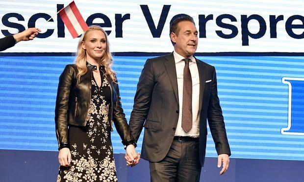 Philippa Strache mit ihrem Mann