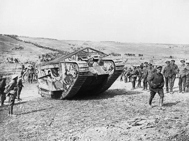 Der Mark I-Panzer