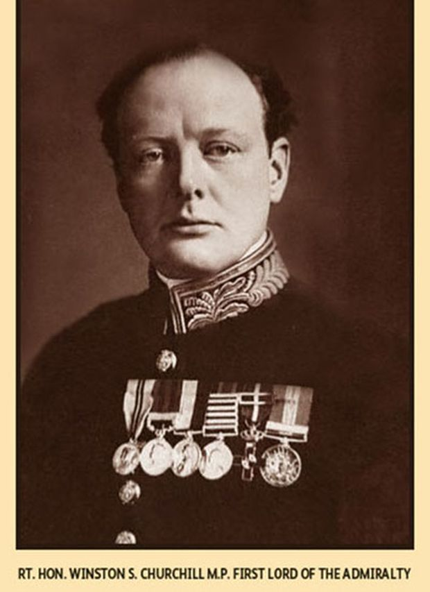 Winston Churchill 1915 als Marineminister (First Lord of the Admiralty)