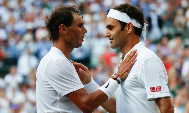 Rivalen auf dem Tennisplatz, Verbündete am Verhandlungstisch: Nadal (l. ) und Federer.