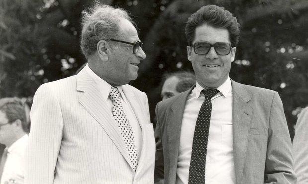 Kreisky und Fischer 1980