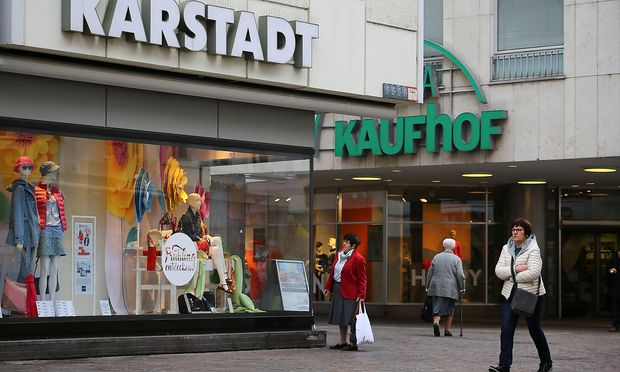 FILE PHOTO: Shop-windows of German department stores 'Karstadt' and 'Kaufhof' in Trier