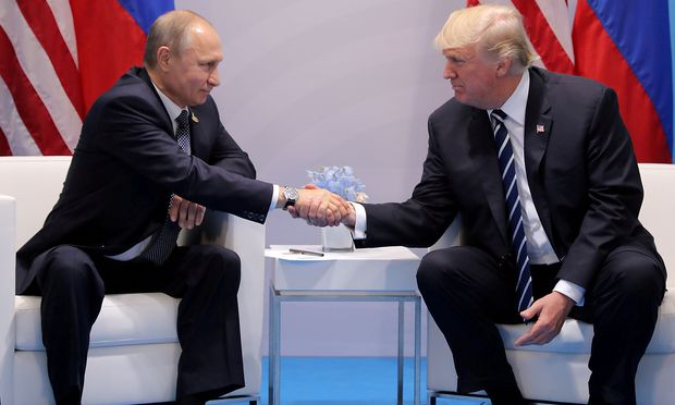 Russlands Präsident Putin mit US-Präsident Trump.