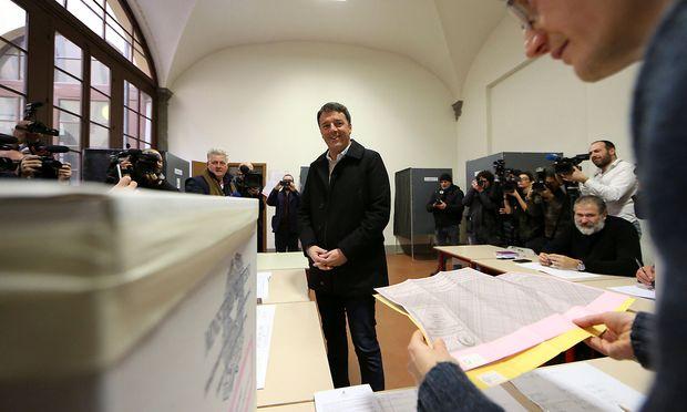 Ex-Premier Matteo Renzi.