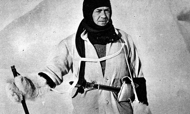 Robert Scott auf Expedition 1912.
