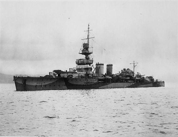 Der Kreuzer HMS Cardiff brachte Karl und Zita ins Exil nach Madeira; das 1917 in Dienst gestellte Schiff diente noch im Zweiten Weltkrieg und wurde erst 1946 verschrottet.