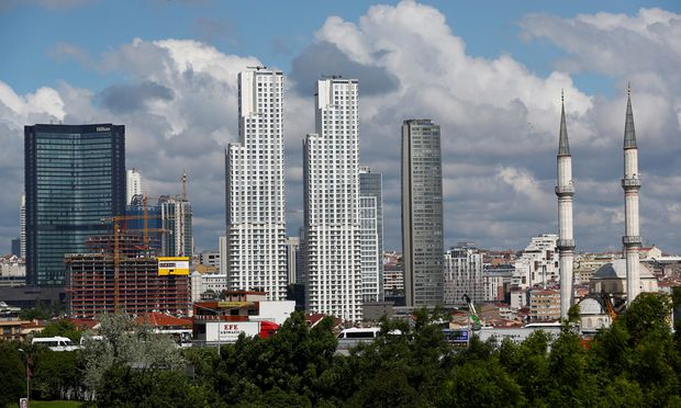 Business and residential buildings are seen in Sisli district in Istanbul