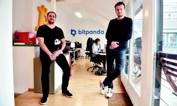 Bitpanda-Gründer Paul Klanschek und Eric Demuth betreiben einen der größten Bitcoin-Händler Europas. / Bild: (c) Die Presse (Clemens Fabry)