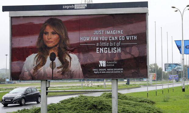 Eine Sprachschule in Kroatien darf keine Werbung mit der US-First Lady mehr machen