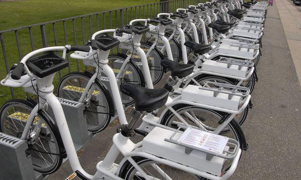 Kopenhagen 11 09 2015 Kun Bycyklen Verleih von Elektrofahrr�dern in D�nemark PUBLICATIONxNOTx