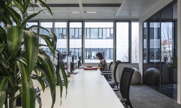 In der stillen Desksharing-Zone