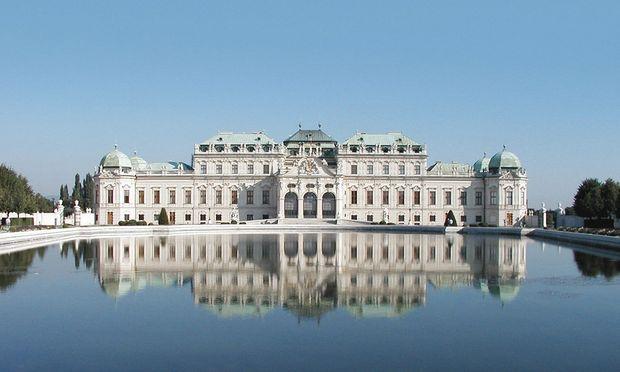 Oberes Belvedere, Südseite