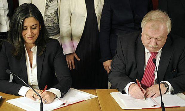 RotGruen Wien Koalitionspakt unterzeichnet