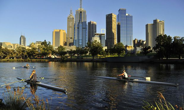 Szene am Ufer des Yarra-River, der durch Melbourne fließt. / Bild: (c) REUTERS