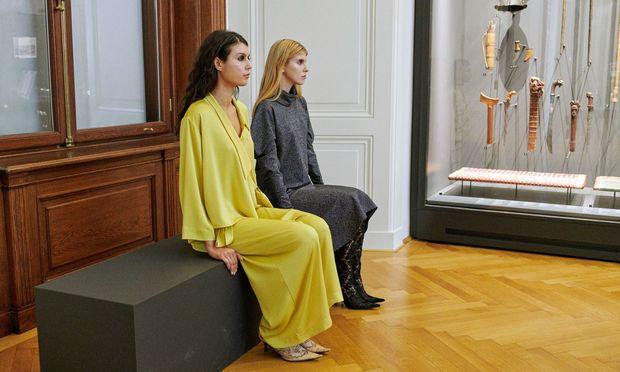 Installation. Mode von Wieland war bei der Preisverleihung im Weltmuseum zu sehen.