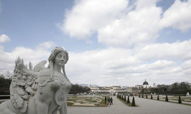Archivbild: Blick vom Oberen auf das Untere Belvedere in Wien