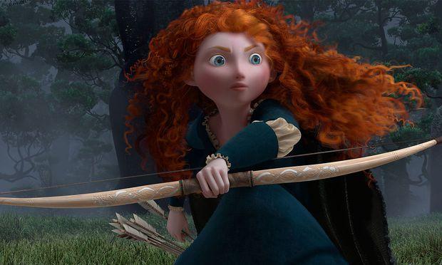 """Schottische Prinzessin, aber lieber Bogenschützin: Merida in """"Brave""""."""
