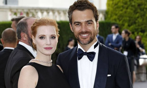 Jessica Chastain and Gian Luca Passi de Preposulo attending the amfAR s 24th Cinema Against Aids Gal