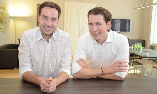 Stefan Schnöll (links neben Sebastian Kurz): Bereit auch für die erste Reihe.