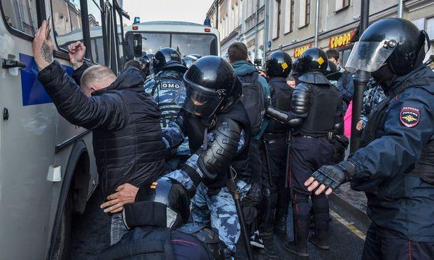 Demonstration in Moskau