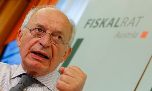 President of the Austrian Fiscal Advisory Council Felderer addresses a news conference in Vienna