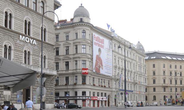 Blick auf die SPÖ-Zentrale in der Wiener Löwelstraße