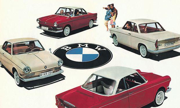BMW-Werbung für den 700 Coupé, gebaut von 1959 bis 1964.