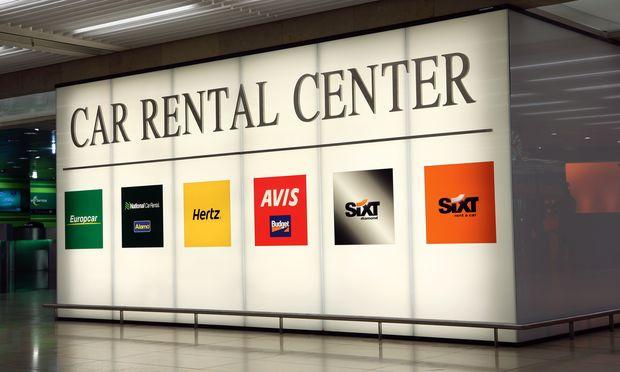 Car rental center billboard