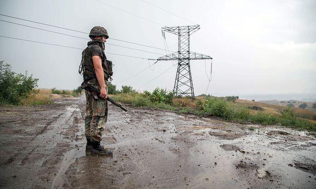 Ein ukrainischer Soldat.