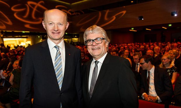 Oberbank-Generaldirektor Franz Gasselsberger (links), voestalpine-Generaldirektor Wolfgang Eder