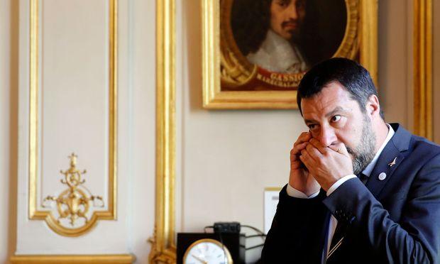 Matteo Salvini hat große Europa-Pläne: Italiens Innenminister während eines Besuchs bei seinem Amtskollegen in Paris.