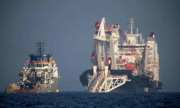 Die Nord Stream II wird derzeit neben der bestehenden Trasse für die Nord Stream gebaut.