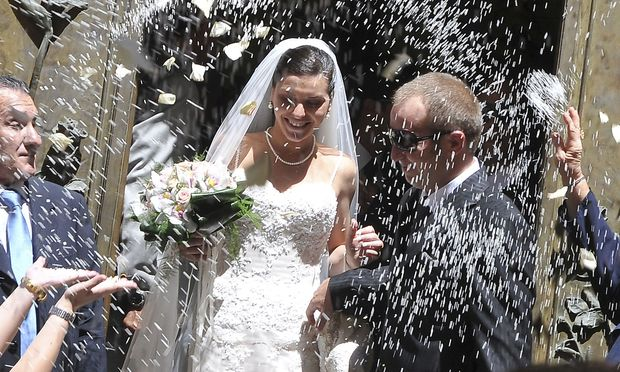 Lucia Riina bei ihrer Hochzeit.