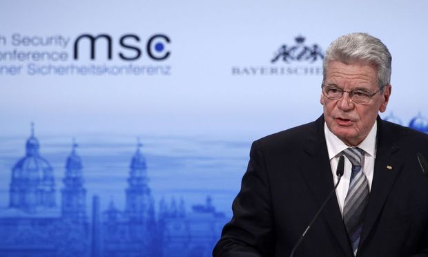German President Gauck holds his speech during opening of 50th Conference on Security Policy in Munich