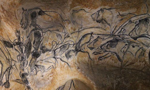 Die Zeichnungen der Grotte Chauvet sind heute nur mehr als Repliken zu bewundern. Der Zugang für normale Besucher ist nicht mehr möglich.