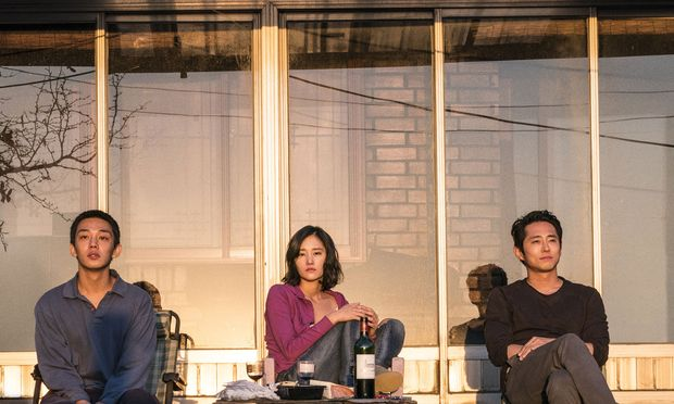 Im Licht der Abendsonne: Jongsu (Yoo Ah-in), Haemi (Jun Jong-seo) und Ben (Steven Yeun).
