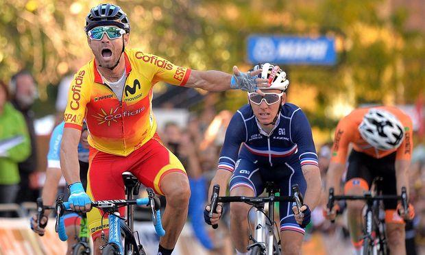Alejandro Valverde jubelt