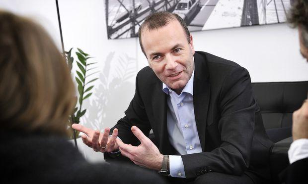 """""""In fünf bis zehn Jahren eine Antwort auf Krebs"""": Manfred Weber (CSU), Spitzenkandidat der Europäischen Volkspartei (EVP) für die EU-Wahl am 26. Mai."""