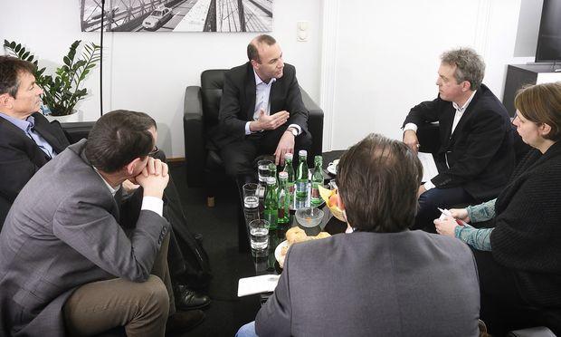 """Das Interview mit Manfred Weber wurde von der """"Presse"""" gemeinsam mit den Bundesländerzeitungen geführt."""