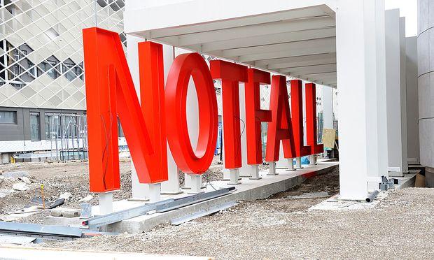 Die Baustelle des Krankenhaus Nord in Wien-Floridsdorf
